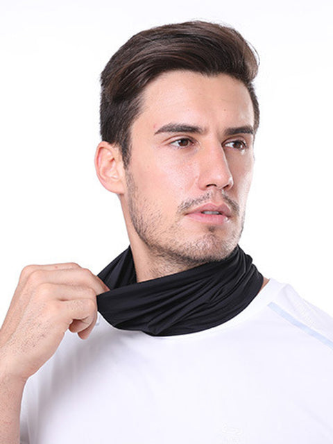 Adult'S Comfort Anti-Dust Protective Neck Gaiter For Sports Running-Black 1
