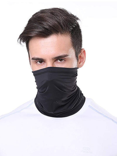 Color=Black | Comfort Adult Protective Neck Gaiter Running Face Shield For Going Out-Black 1