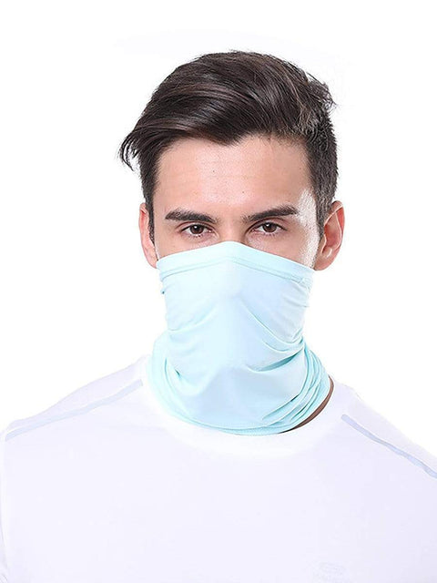 Color=Sky Blue | Comfort Adult Protective Neck Gaiter Running Face Shield For Going Out-Sky Blue 1
