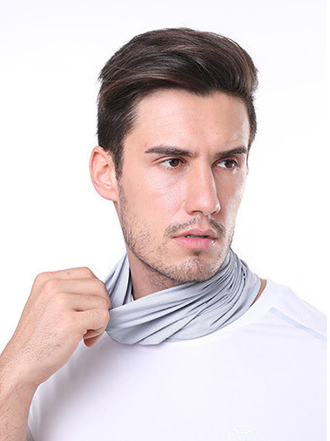 Adult'S Comfort Anti-Dust Protective Neck Gaiter For Sports Running-Grey 1