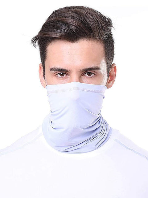 Color=Grey | Comfort Adult Protective Neck Gaiter Running Face Shield For Going Out-Grey 1