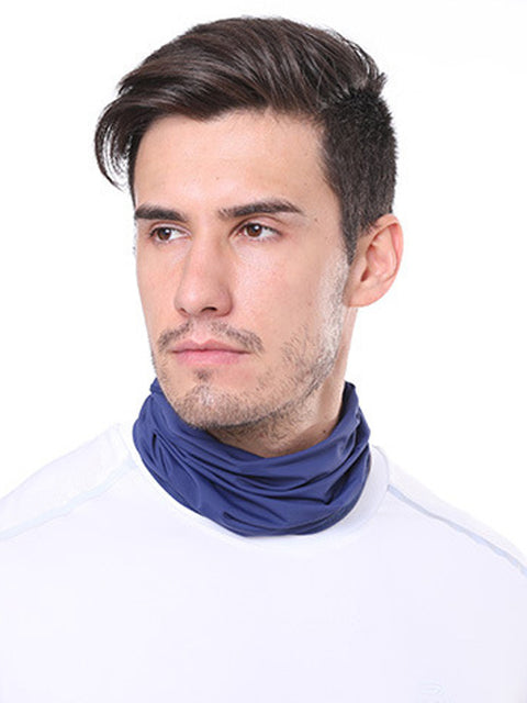 Adult'S Comfort Anti-Dust Protective Neck Gaiter For Sports Running-Navy Blue 1