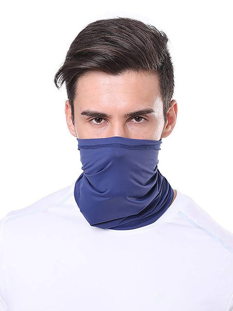 Color=Navy Blue | Comfort Adult Protective Neck Gaiter Running Face Shield For Going Out-Navy Blue 1