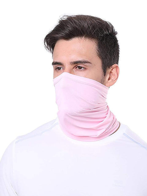 Color=Pink | Comfort Adult Protective Neck Gaiter Running Face Shield For Going Out-Pink 1