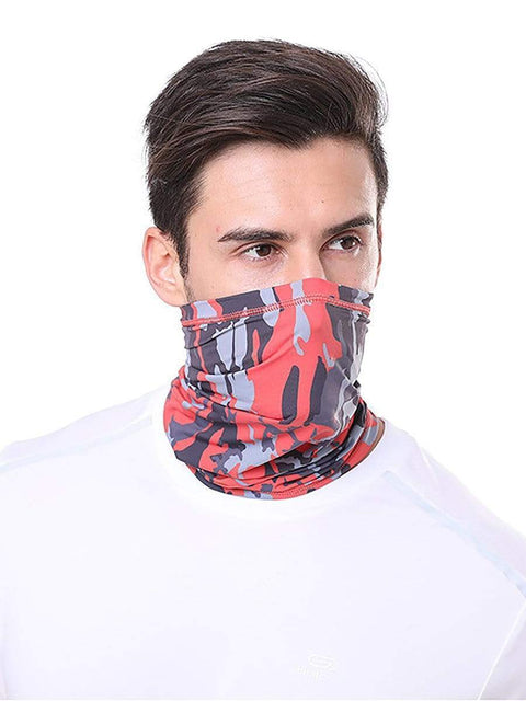 Color=Red | Comfort Adult Protective Neck Gaiter Running Face Shield For Going Out-Red 1