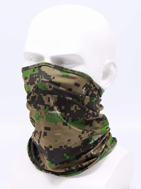 Color=Dark Green | Non-Slip Light Breathable Half Face Neck Gaiters For Adults-Dark Green 5