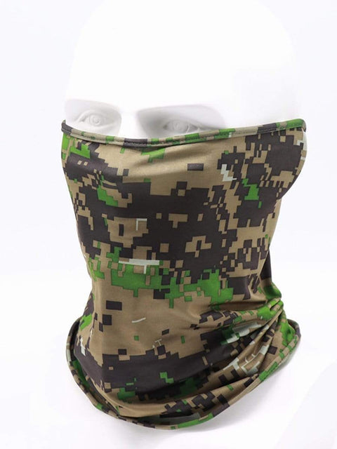 Color=Dark Green | Non-Slip Light Breathable Half Face Neck Gaiters For Adults-Dark Green 1