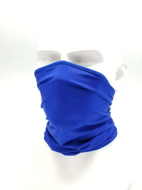Color=Sapphire Blue | Non-Slip Light Breathable Half Face Neck Gaiters For Adults-Sapphire Blue 1