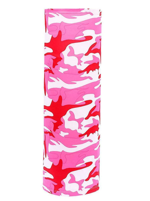 Color=Coral | Half Balaclava Bandana Neck Gaiters For Adults-Coral 1