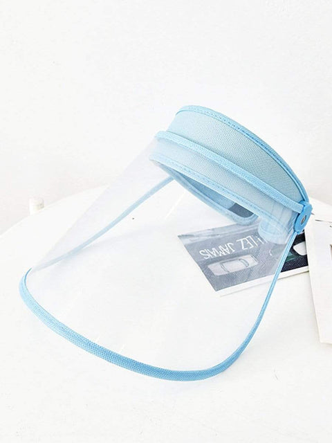 Color=Sky Blue | Transparent Isolation Anti-Pollution Protective Face-Shield Hat-Sky Blue 2