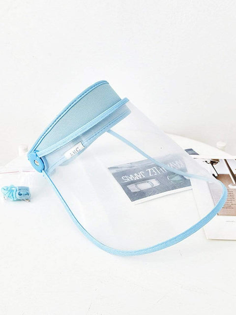 Color=Sky Blue | Transparent Isolation Anti-Pollution Protective Face-Shield Hat-Sky Blue 3