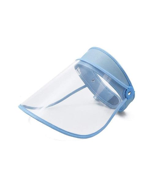 Color=Sky Blue | Transparent Isolation Anti-Pollution Protective Face-Shield Hat-Sky Blue 1