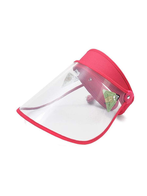 Color=Coral | Transparent Isolation Anti-Pollution Protective Face-Shield Hat-Coral 1