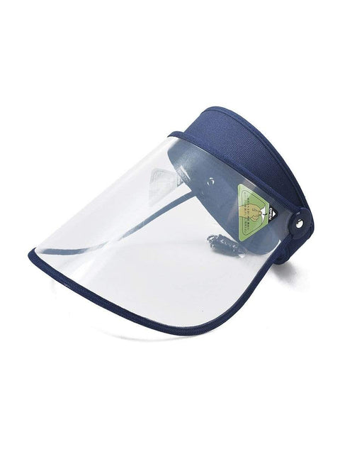 Color=Navy Blue | Transparent Isolation Anti-Pollution Protective Face-Shield Hat-Navy Blue 1