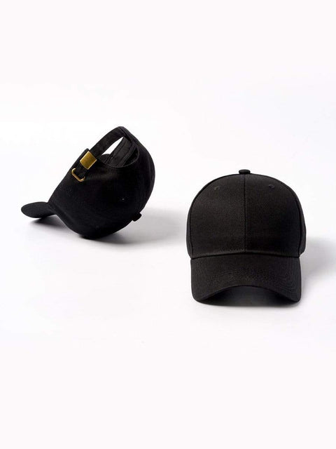 Color=Black | Simple Outdoor Detachable Visor Adjustable Protective Baseball Hat-Black 2