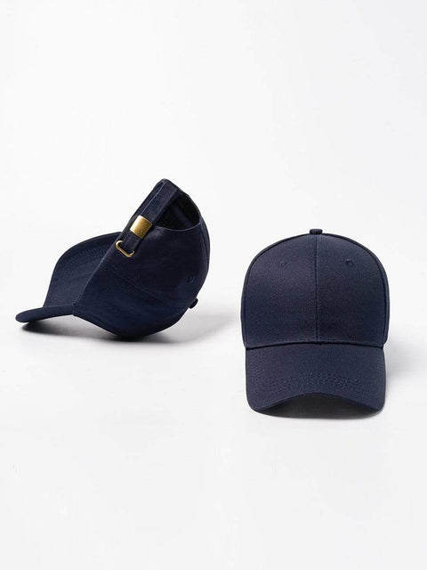 Color=Navy Blue | Simple Outdoor Detachable Visor Adjustable Protective Baseball Hat-Navy Blue 2