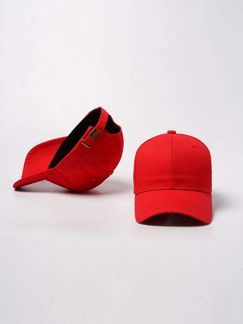Color=Red | Simple Outdoor Detachable Visor Adjustable Protective Baseball Hat-Red 2