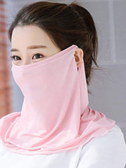 Color=Blush | Women'S Uv Protection Ice Silk Breathable Elastic Neck Gaiter-Blush 2