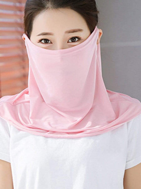 Color=Blush | Women'S Uv Protection Ice Silk Breathable Elastic Neck Gaiter-Blush 1