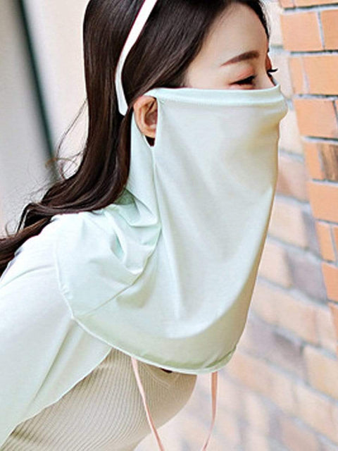 Color=Sky Blue | Women'S Uv Protection Ice Silk Breathable Elastic Neck Gaiter-Sky Blue 3