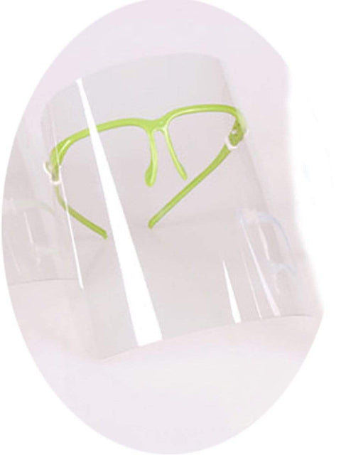 Color=Green | Anti-Saliva Adjustable Breathable Isolated Transparent Face Sheild-Green 1
