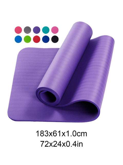 Color=Purple | Non-Slip Eco-Friendly Yoga Mat For Pilates And Floor Exercises-Purple 7