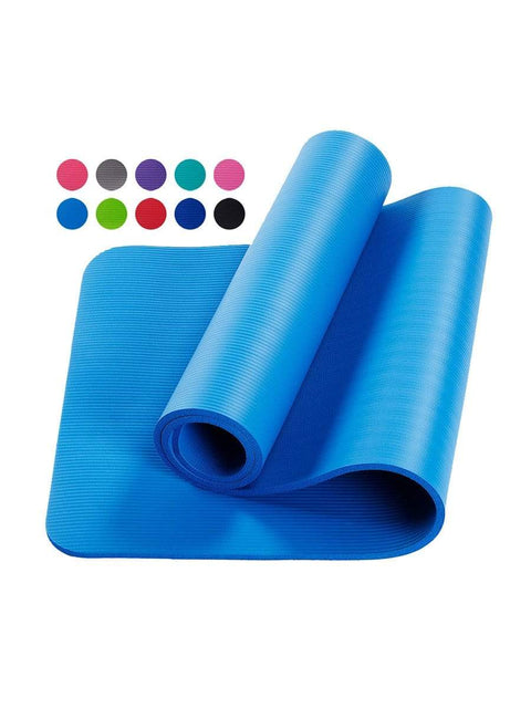 Color=Dusty blue | Non-Slip Eco-Friendly Yoga Mat For Pilates And Floor Exercises-Dusty Blue 1