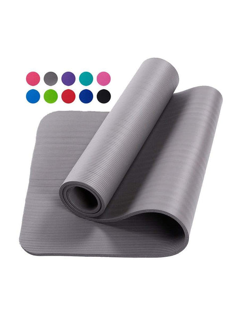 Color=Grey | Non-Slip Eco-Friendly Yoga Mat For Pilates And Floor Exercises-Grey 1