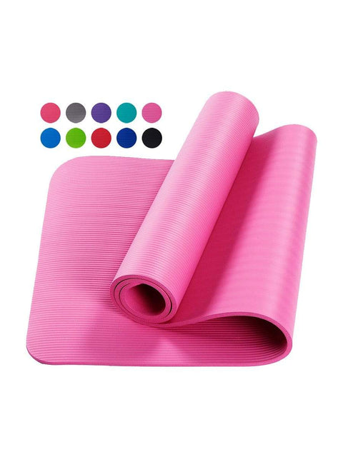 Color=Pink | Non-Slip Eco-Friendly Yoga Mat For Pilates And Floor Exercises-Pink 1
