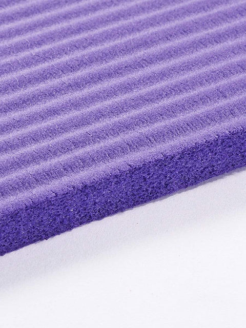 Color=Purple | Non-Slip Eco-Friendly Yoga Mat For Pilates And Floor Exercises-Purple 4