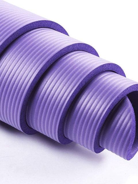 Color=Purple | Non-Slip Eco-Friendly Yoga Mat For Pilates And Floor Exercises-Purple 5