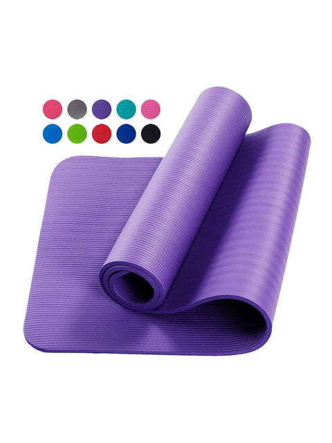 Color=Purple | Non-Slip Eco-Friendly Yoga Mat For Pilates And Floor Exercises-Purple 1