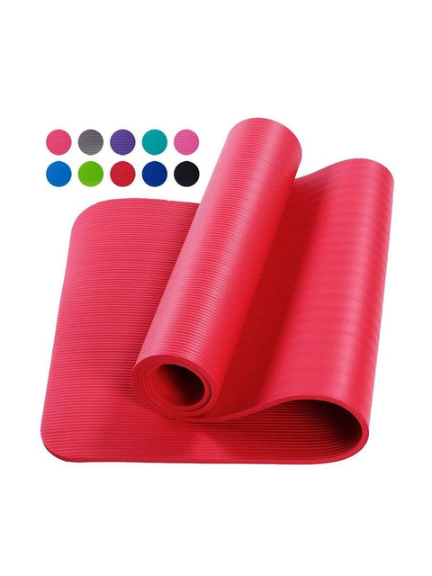 Color=Red | Non-Slip Eco-Friendly Yoga Mat For Pilates And Floor Exercises-Red 1