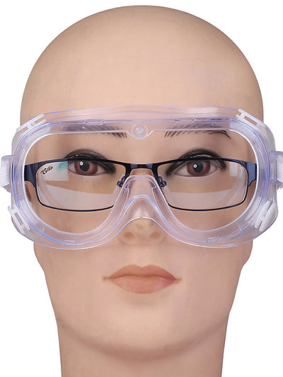Anti-Spitting Anti-Fog Breathable Myopia Closed Safety Glasses-Transparent 1