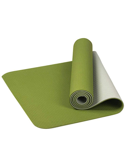 Color=Green | Simple Thick Non-Slip Exercise & Fitness Mat For Yoga-Green 1