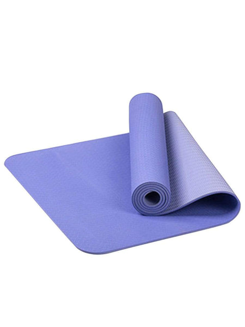 Color=Lavender | Simple Thick Non-Slip Exercise & Fitness Mat For Yoga-Lavender 1