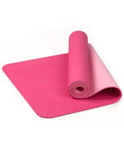 Color=Pink | Simple Thick Non-Slip Exercise & Fitness Mat For Yoga-Pink 1