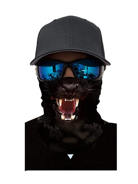 Color=Multicolor1 | 3D Animal Anti-Uv Neck Gaiter Warmer For Ski Halloween Costume-Multicolor1 3