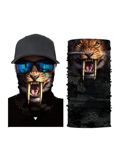 Color=Multicolor3 | 3D Animal Anti-Uv Neck Gaiter Warmer For Ski Halloween Costume-Multicolor3 1