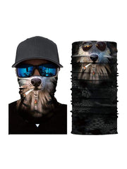 Color=Multicolor4 | 3D Animal Anti-Uv Neck Gaiter Warmer For Ski Halloween Costume-Multicolor4 1