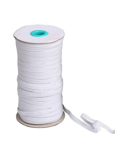 Color=White | Width Elastic Band Diy Cloth For Protective Equipment-White 1