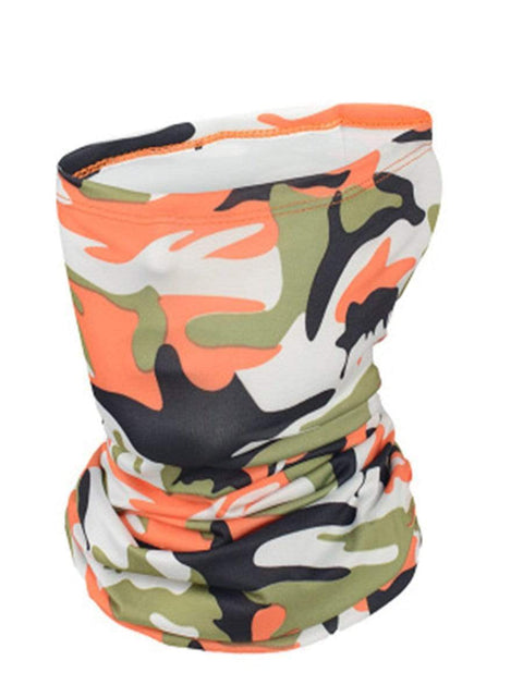 Color=Orange | Outdoors Uv Protection Colorful Face Neck Gaiter For Adults-Orange 1
