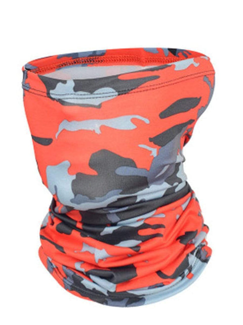Color=Red | Outdoors Uv Protection Colorful Face Neck Gaiter For Adults-Red 1