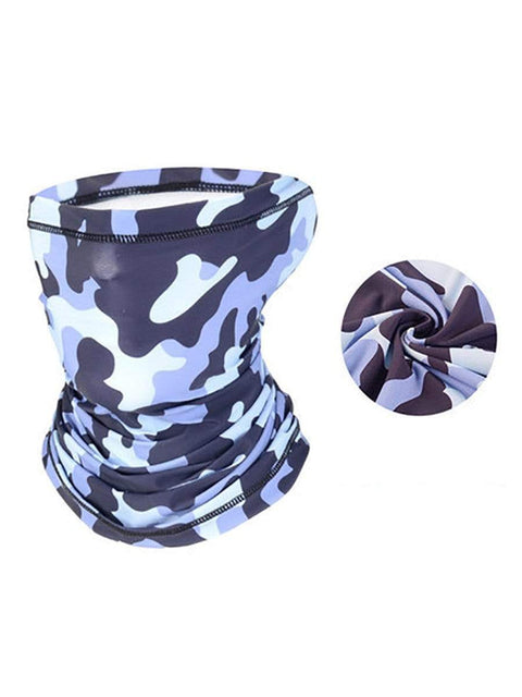 Color=Grey | Colorful Neck Gaiter Bandanas For Dust Outdoors Festivals Sports-Grey 1