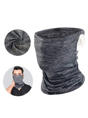 Color=Deep Grey | Hanging Ears Multifunction Breathable Elastic Neck Gaiter-Deep Grey 1