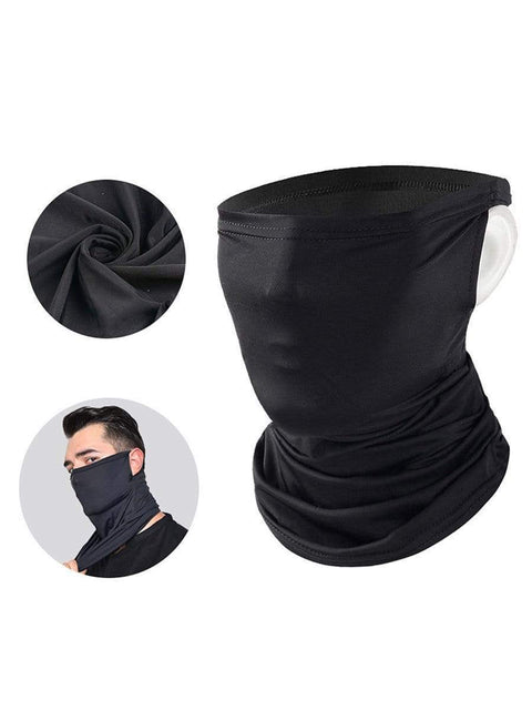 Color=Black | Hanging Ears Multifunction Breathable Elastic Neck Gaiter-Black 1