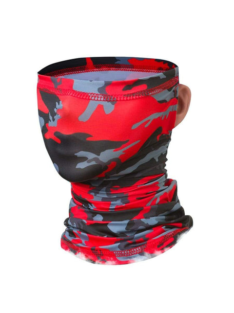 Color=Red | Adult'S Hanging Ears Ice Silk Protective Neck Gaiter-Red 1