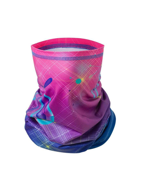 Color=Blue ink | Floral Printed Protective Outdoors Neck Gaiter For Adult-Blue Ink 1