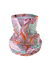 Color=Pink | Floral Printed Protective Outdoors Neck Gaiter For Adult-Pink 1