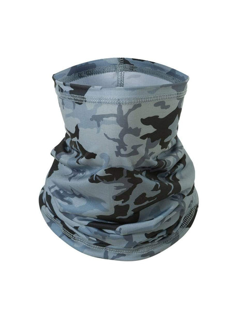 Color=Grey | Floral Printed Protective Outdoors Neck Gaiter For Adult-Grey 1